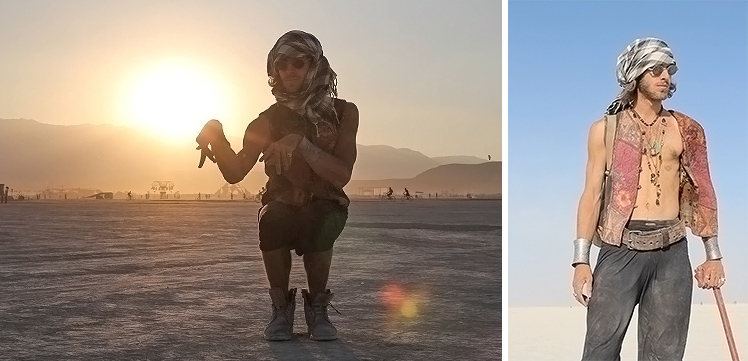 Dominik auf dem Burning Man