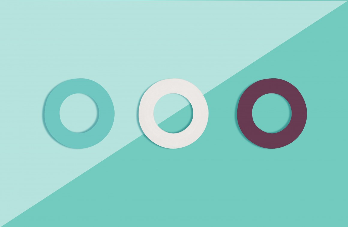 rubber gasket, 3 pack, turquoise purple white