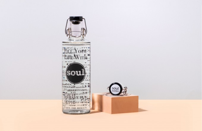 All Black Set – Fill your life with soul 1,0l inkl. schwarzer Deckel