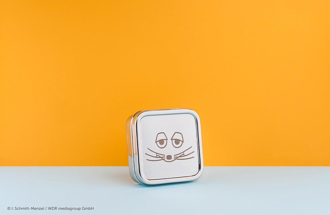 Edelstahlbrotdose mit Maus, graviert, Eco Brotbox Classic